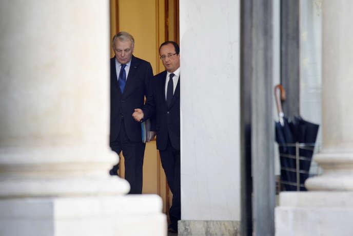 Le président de la République et le premier ministre le 23 octobre à l'Elysée.