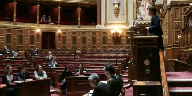 L'hémicycle du Sénat.