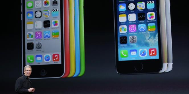 Tim Cook pendant une conférence Apple à San Francisco le 22 octobre.