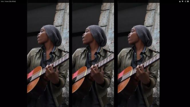 La chanteuse Irma, pur produit de YouTube, dans le clip