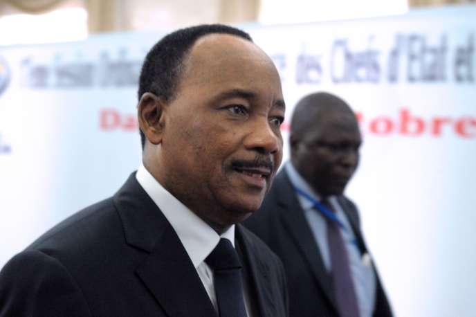 Le président du Niger, Mahamadou Issoufou, le 24 octobre à Dakar.
