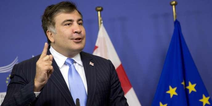 Mikheïl Saakachvili à Bruxelles, le 29 octobre.
