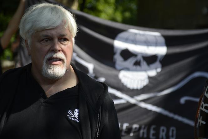 Paul Watson, lors d'une manifestation à Berlin en mai 2012.