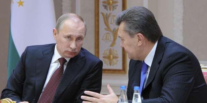 Le président russe, Vladimir Poutine, et son homologue ukrainien, Viktor Ianoukovitch.
