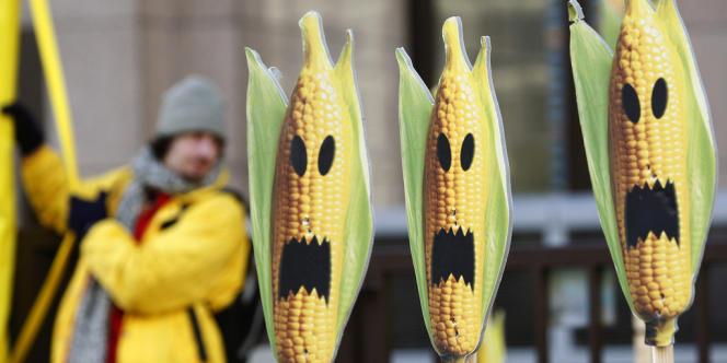 Manifestation de Greenpeace à Bruxelles.