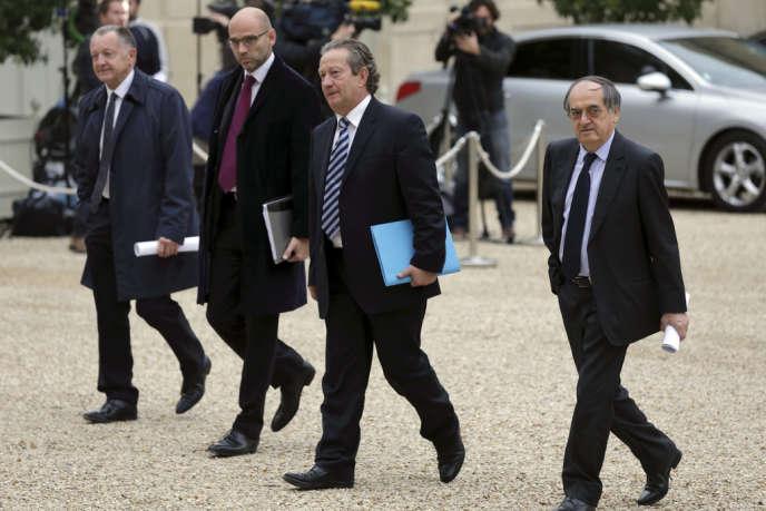 Jean-Pierre Louvel (au centre) au Palais de l'Elysée le 31 octobre.