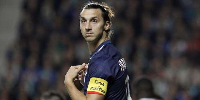 Zlatan Ibrahimovic, le 27 octobre lors du match Saint-Etienne - PSG.