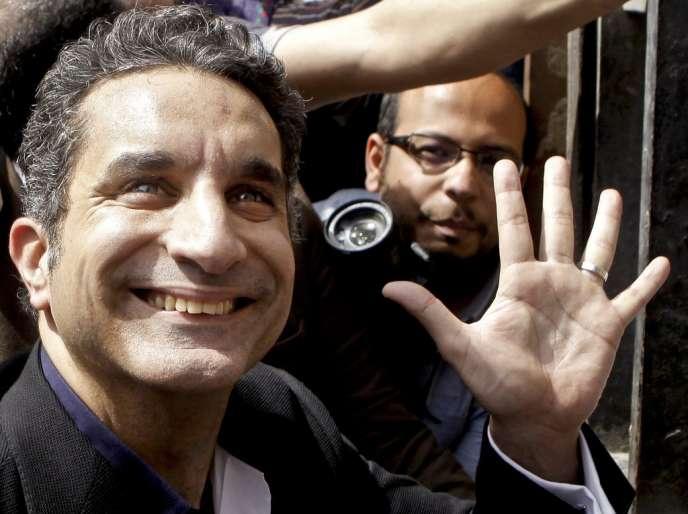 Bassem Youssef en mars 2013, au Caire.