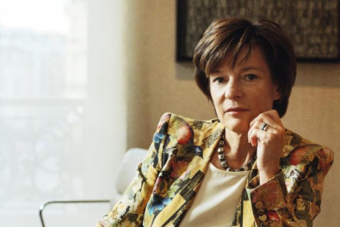 Patricia Barbizet, au siège d'Artémis, près des Champs-Elysées, le 18 octobre 2013. -