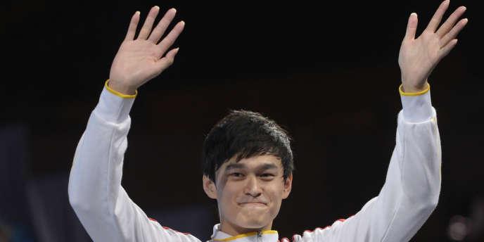 Sun Yang, le 4 août lors des championnats du monde de natation à Barcelone.