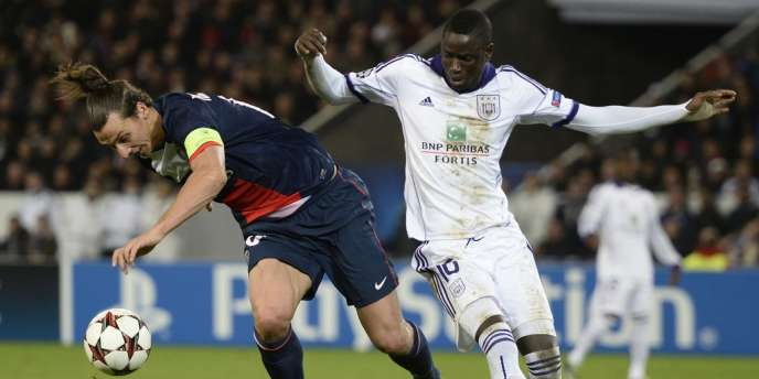 Zlatan Ibrahimovic et les Parisiens ont été accrochés par Cheikhou Kouyate et les Belges d'Anderlecht, mardi au Parc des Princes.
