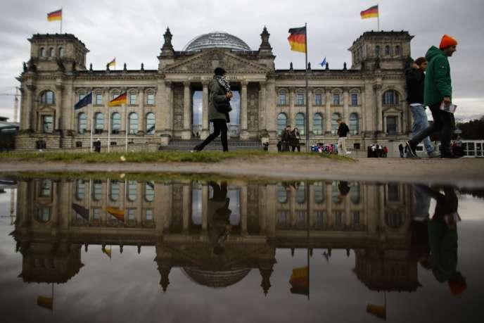 Le palais du Reichtag, qui abrite le Bundestag, à Berlin.
