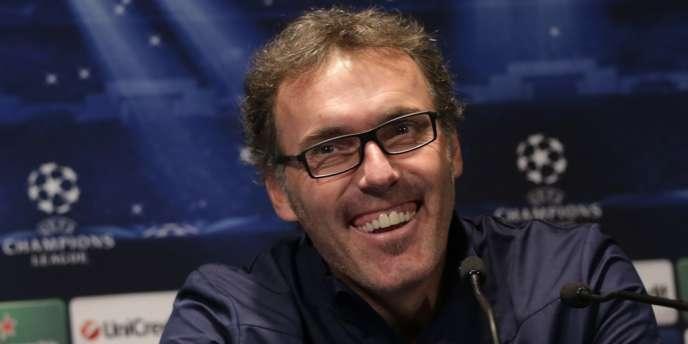 L'entraîneur du PSG Laurent Blanc, avant le match de Ligue des champions contre Anderlecht, mardi 5 novembre.