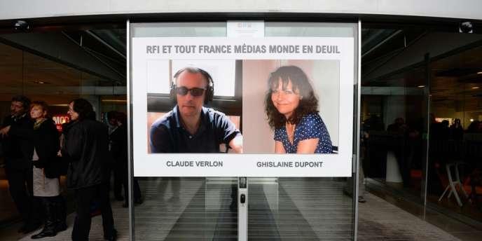 Ghislaine Dupont et de Claude Verlon, les deux envoyés spéciaux de Radio France internationale (RFI) à Kidal.