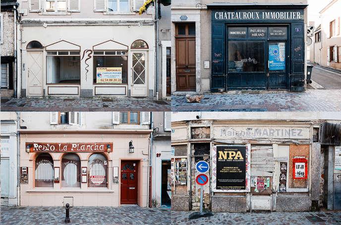 Devantures fermées dans le centre ville de Châteauroux, le 21 octobre.