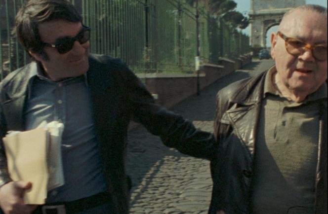 Claude Lanzmann et Benjamin Murmelstein dans le film documentaire français de Claude Lanzmann,
