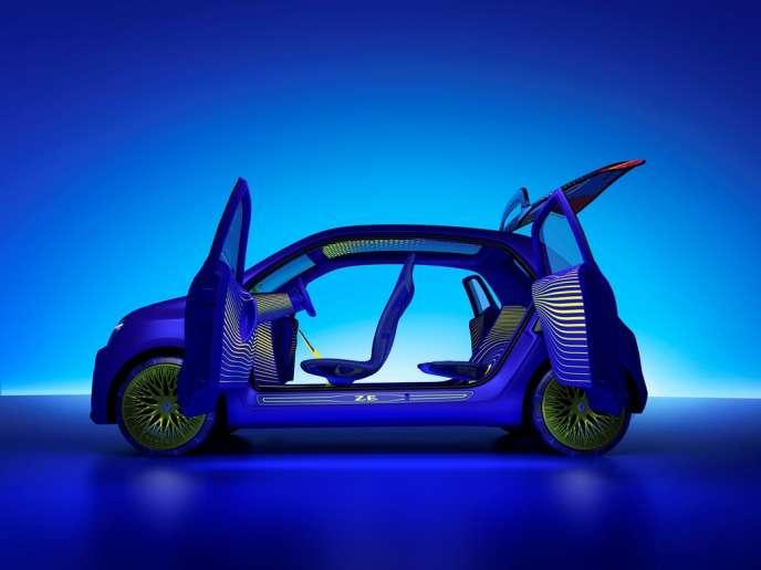 La future Twingo, un modèle quatre-portes, gagnera en habitabilité.