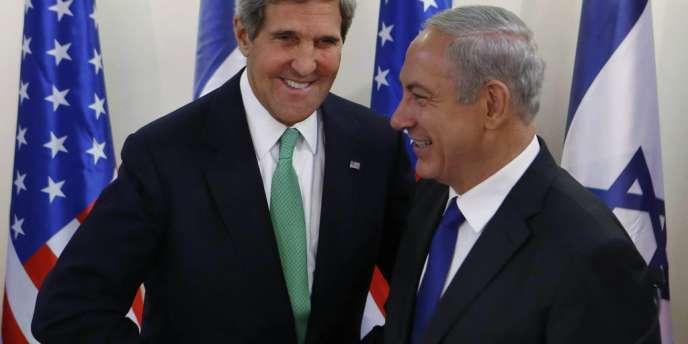 Le secrétaire d'Etat John Kerry en visite à Jérusalem le 15 septembre 2013.