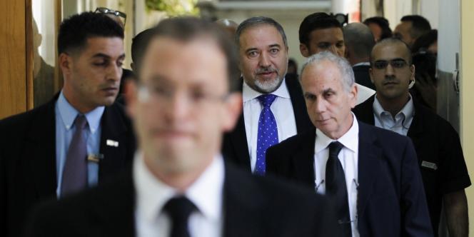 Avigdor Lieberman, ministre des affaires étrangères israélien, à Jérusalem en novembre.