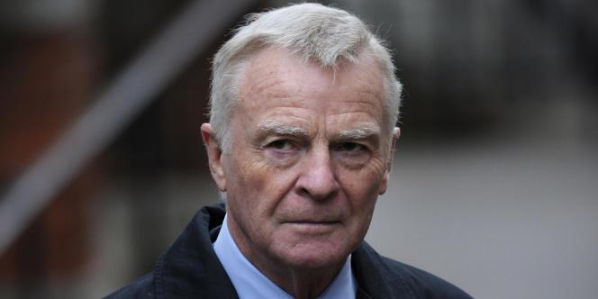 Max Mosley, l'ex-patron de la Fédération internationale de l'automobile, en novembre 2011.