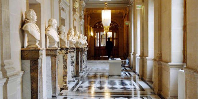 Le hall de la Cour de cassation à Paris (mai 2007).