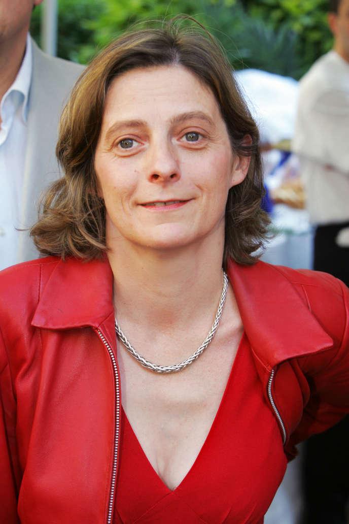 La comédienne et metteuse en scène Claire Lasne à Paris en juin 2005.