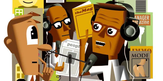 La presse écrite au micro des radios.