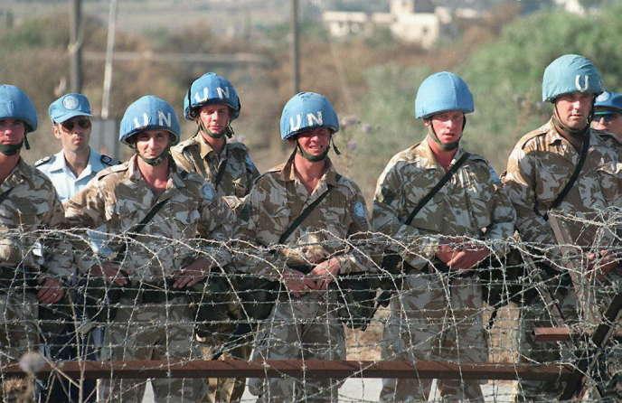Des troupes de l'ONU sur la