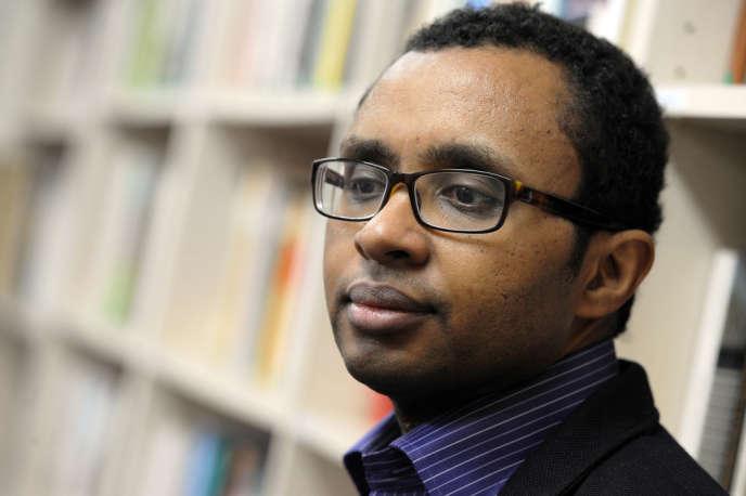 Pap Ndiaye à l'Ecole des hautes études en sciences sociales, le 13 février 2012.