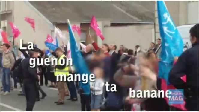 Capture d'écran de la vidéo réalisée par