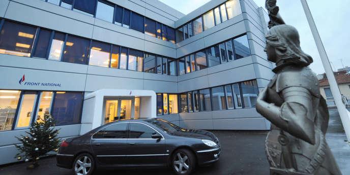 Le siège du FN à Nanterre.