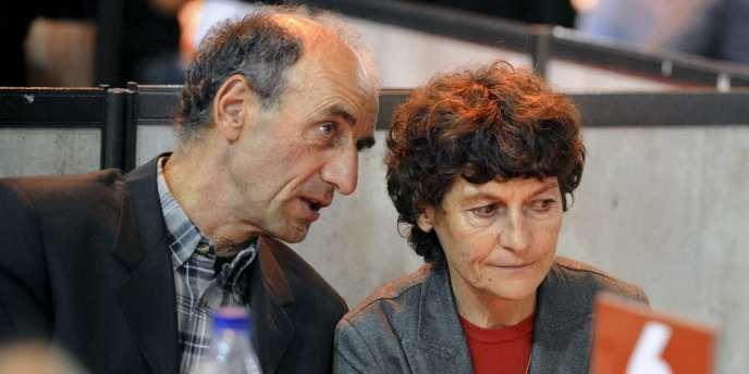 Jeannie Longo et  son mari, Patrice Ciprelli, le 27octobre2011 à Grenoble.
