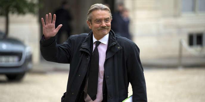 Frédéric Thiriez, président de la LFP, à l'Elysée en octobre.