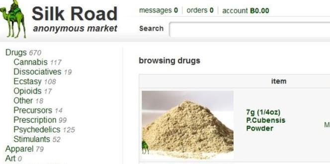 La dernière version du site Silk Road.