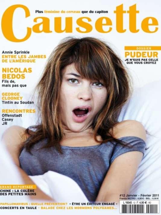 Couverture d'un numéro du magazine mensuel féminin « Causette ».