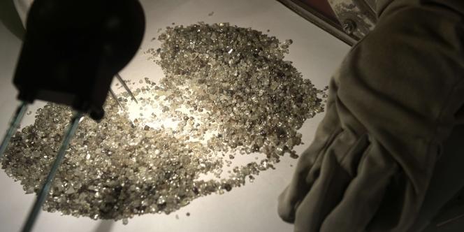 En Afrique du sud, sur un site d'extraction de diamants.