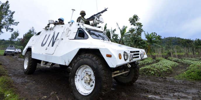 Un véhicule de la Monusco au Nord-Kivu, un des anciens bastions des forces rebelles du Mouvement du 23-Mars.
