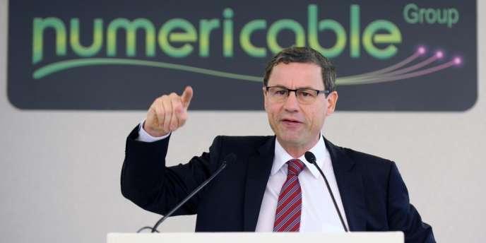 Eric Denoyer, PDG de Numericable, l'opérateur français de télévision par câble et Internet, le 28 octobre dernier à Paris.