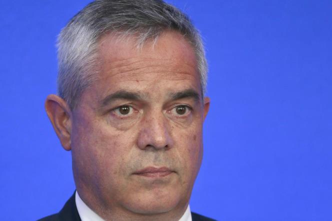 Patrick Calvar, dirigeant de la direction centrale du renseignement intérieur (DCRI)à Paris, en juin 2013.