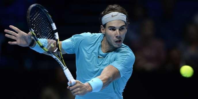 Rafael Nadal contre Thomas Berdych au Masters de Londres le 8 novembre.
