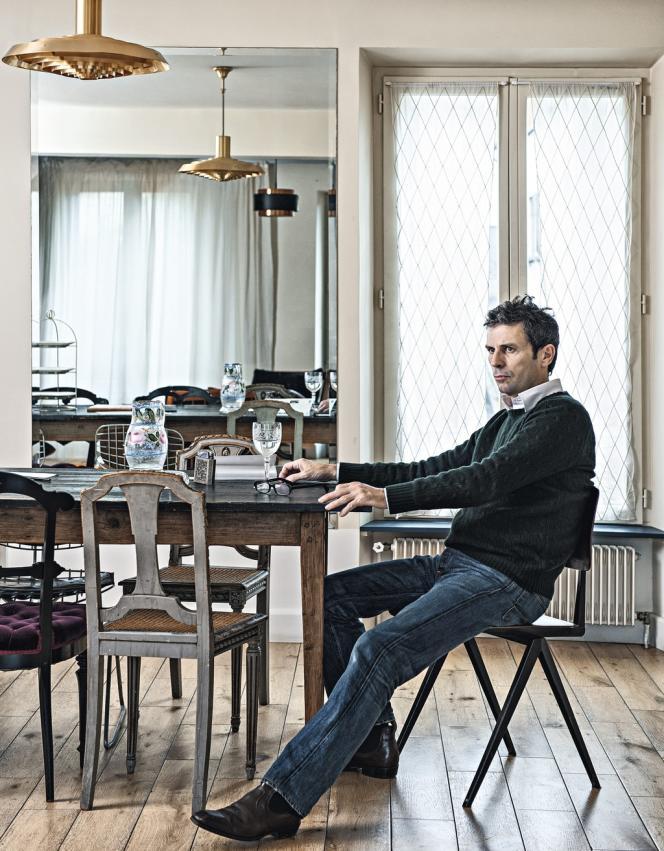 Frédéric Taddeï le 21 octobre, à son domicile du Pré-Saint-Gervais, à l'est de Paris.