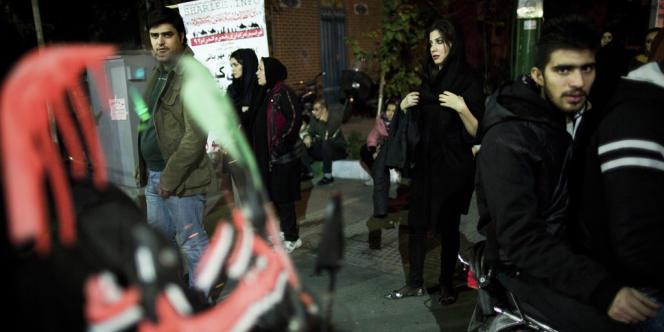 Dans une rue de Téhéran, le 9 novembre.