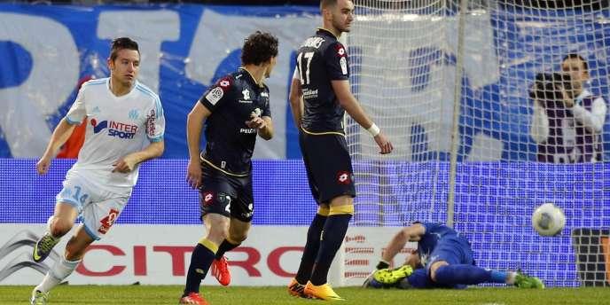 Florian Thauvin a inscrit le premier but marseillais, dimanche, face à Sochaux.