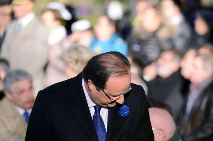 François Hollande à Oyonnax, le 11 novembre.