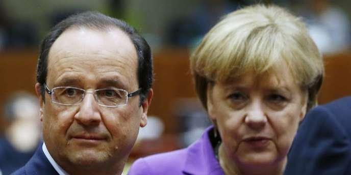 François Hollande et Angela Merkel, le 25 octobre à Bruxelles.