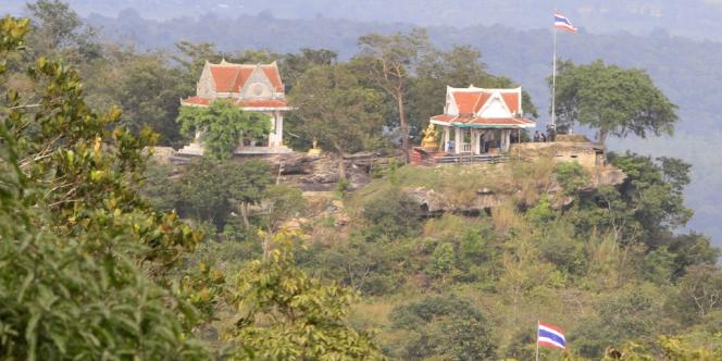 Partie du temple de Preah Vihear sous contrôle thaïlandais.