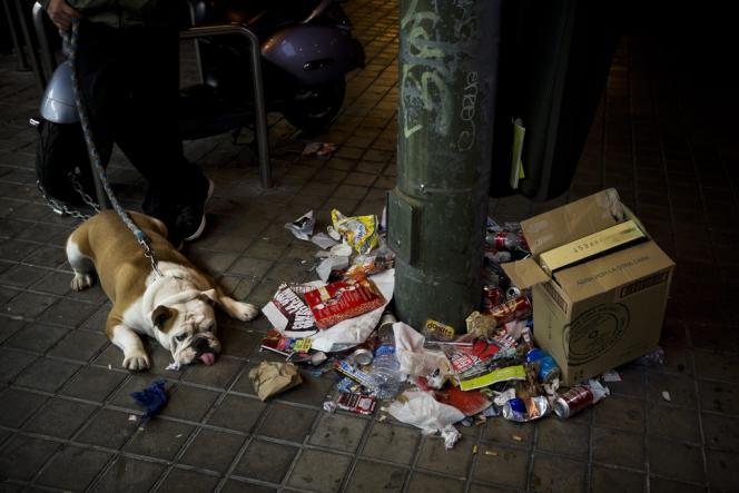 Les agents de nettoyage de Madrid  contestent le plan de licenciements qui visent 20 % d'entre eux et les projets de réduire de 40 % les salaires des autres.