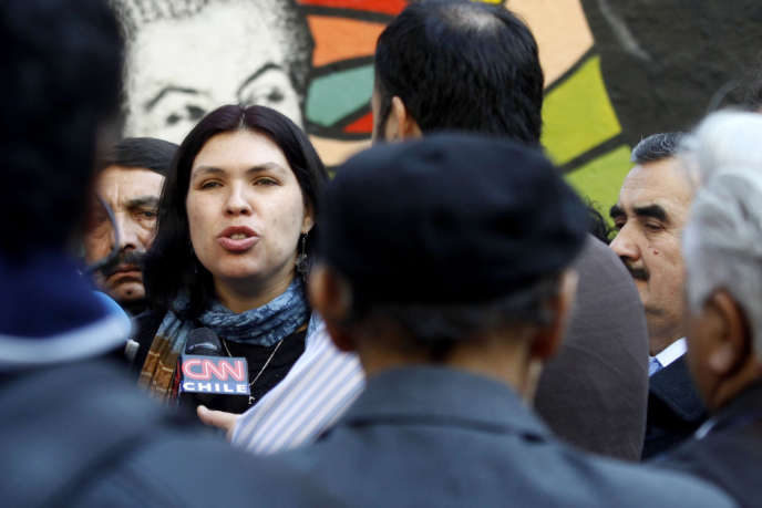Barbara Figueroa, en août 2012 à Santiago, au moment de son élection à la tête de la CUT.