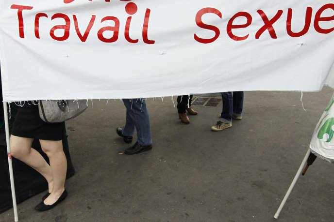Manifestation de travailleurs du sexe contre l'abolition de la prostitution en 2012.
