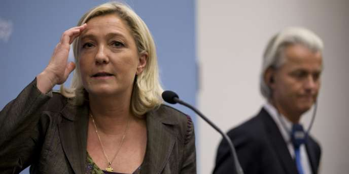 Marine Le Pen et le Néerlandais Gert Wilders.